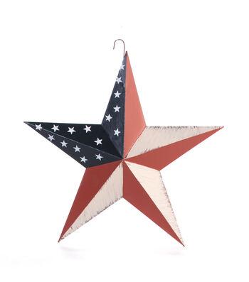 Americana Patriotic 12'' Metal Hand Painted Star