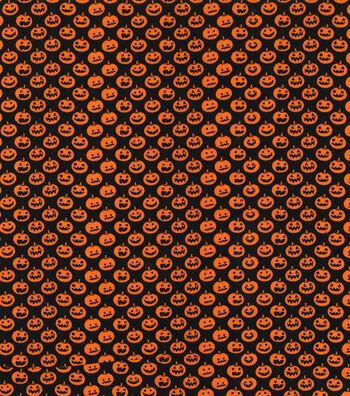 "Halloween Cotton Fabric 43""-Mini Jack O Lanterns"