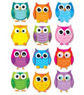 Colorful Owls Cut-Outs, 36 Per Pack, 6 Packs