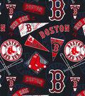 Boston Red Sox Cotton Fabric -Vintage
