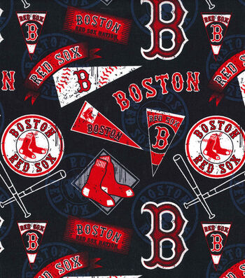 Boston Red Sox Cotton Fabric -Vintage