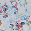 Christmas Cotton Fabric-Patriotic Snowmen