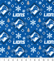 Christmas Detroit Lions Flannel Fabric-Holiday, , hi-res