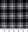 Flannel Shirting Fabric 41\u0022-Small Black White