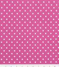 Keepsake Calico Cotton Fabric-Chic Bebe Dots Pink/White