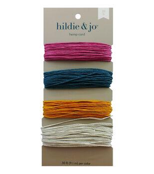 20lb Hemp Cord 4x30ft 4 Spring Colors
