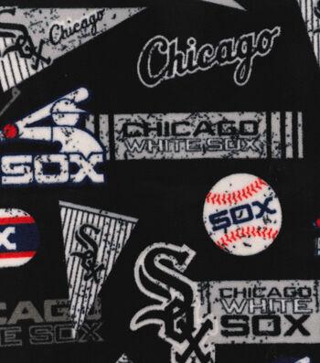 Chicago White Sox Fleece Fabric-Vintage