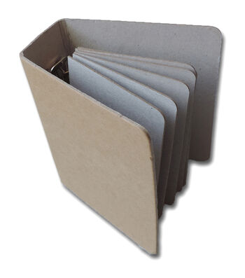 """4""""X5"""" Chipboard Binder with 6 Pages"""