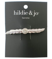 hildie & jo Leaves Gold Barrette-Clear Crystals, , hi-res