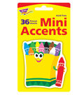 Crayons Mini Accents, 36 Per Pack, 6 Packs