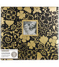 K&Company 12\u0027\u0027x12\u0027\u0027 Scrapbook with Window-Gold Foil Floral on Black