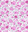 Nursery Cotton Fabric -Pink Floral