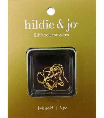 """Cousin Gold Elegance 3/4"""" Fishhook Earring-8PK/14K Gold Plated"""