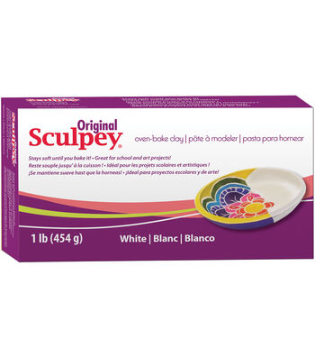 Sculpey Original 1 lb Oven Bake Clay-White