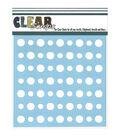 Clear Scraps Stencils Polka Dots