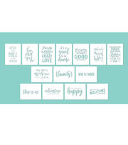 Hampton Art 12X16 Stencils-Phrases, , hi-res