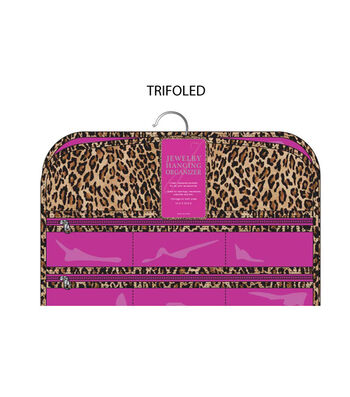 Trifoled Jewelry Hanging Organizer-Leopard