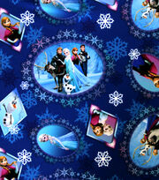 "Disney Frozen Polyester Poplin Fabric 65""-Scenic Patch, , hi-res"