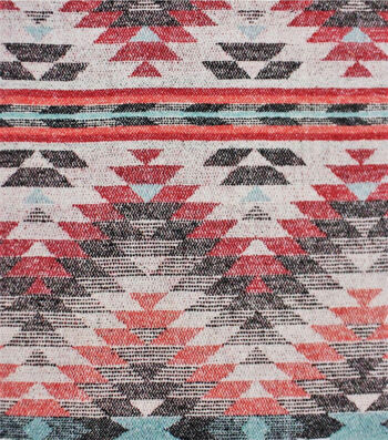 Sportswear Jacquard Fabric-Orange & Red Aztec Triangle