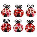 Jesse James Dress It Up Nature Button Embellishments-Ladybug Love