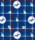 LA Dodgers Flannel Fabric 42\u0022-Plaid