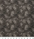 Keepsake Calico Cotton Fabric 43\u0022-Tonal Floral Black