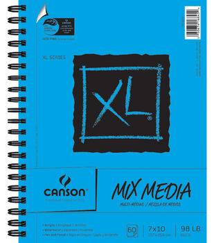 "Canson XL Spiral Multi-Media Paper Pad 7""X10""-60 Sheets"
