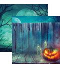 Pumpkin Hallow Double-Sided Cardstock 12\u0022X12\u0022-Fenced Pumpkin