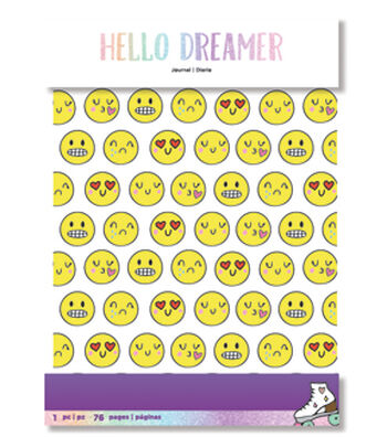 American Crafts Hello Dreamer Planner Journal-Emoji