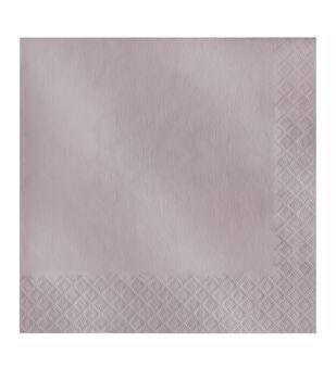 20ct Large Napkin-Pearlized Grey