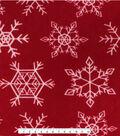 No Sew Fleece Throw 72\u0022-Red Snowflake