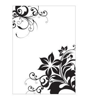 """CGull Embossing Folder 5""""X7""""-Corner Floral"""
