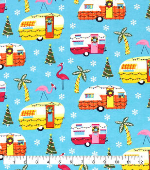 Super Snuggle Flannel Fabric-Coastal Holiday Campers