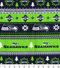 Seattle Seahawks Flannel Fabric 42\u0022-Winter