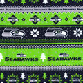 Seattle Seahawks Christmas Flannel Fabric-Winter
