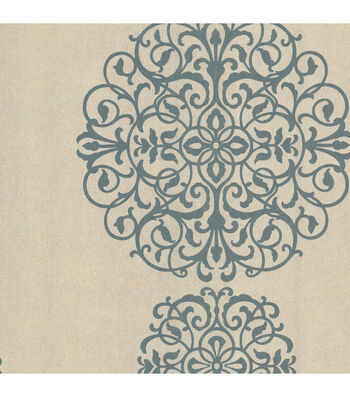 Iman Aqua Medallion Wallpaper
