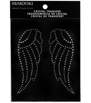 Swarovski Create Your Style Angel Wings Crystals Iron-on Transfer