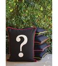 Square By Design-Question Mark 25\u0022 Woven Square