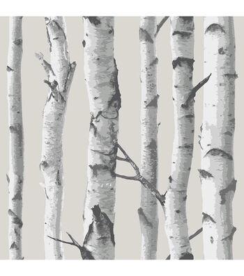 WallPops NuWallpaper Birch Tree Peel And Stick Wallpaper