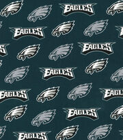 Philadelphia Eagles Cotton Fabric -Silver Glitter, , hi-res