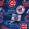 Chicago Cubs Fleece Fabric-Vintage