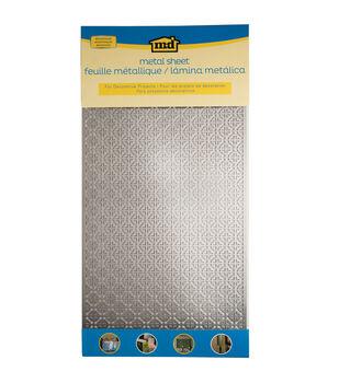 "Silver Colored Metal Sheet 12""X24""-Mosaic"