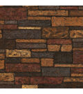 Bristol Taupe Brick Texture Wallpaper Sample