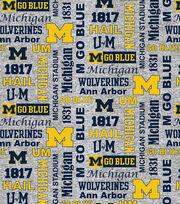 "University of Michigan Fleece Fabric 60""-Heather Verbiage, , hi-res"