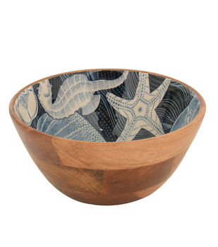 Patio Oasis 10'' Wood Serving Bowl