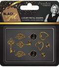 Crafter\u0027s Companion Sara Davies Signature Metal Charms-Black & Gold