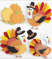 Jolee's Boutique Dimensional Stickers-Turkey Characters, , hi-res
