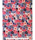 Doodles Juvenile Apparel Fabric 57\u0027\u0027-Pink Mod Flowers Interlock