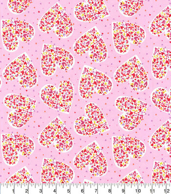 Valentine's Day Cotton Fabric-Hearts with Hearts with Hearts