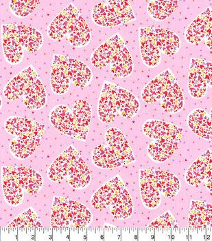 Valentine's Day Cotton Fabric-Hearts